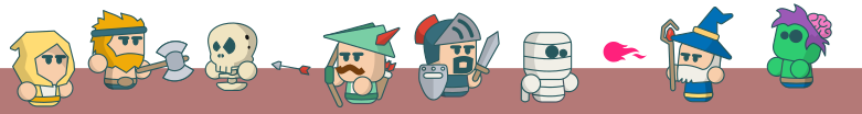 Mini rpg vector characters that I created